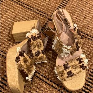 Cute neutral platform sandal